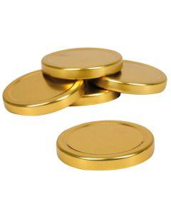 Poklopac metalni, zlatni, promjer 66 mm