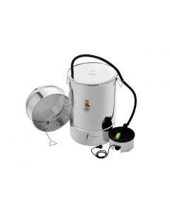 Parni topionik okrugli s čepom i generatorom pare