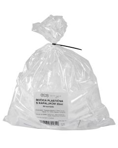 Bočica plastična s kapaljkom 20 ml